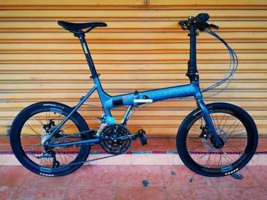 Folding Bike TRINX Flybird 2.0 Grey Basikal Lipat