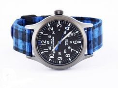 Timex watch Expedition blue Nylon Indiglo