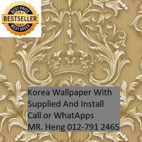 PVC Vinyl Wall paper with Expert Install 34g4