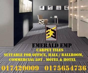 Supply install tile carpet ofis karpet tile hotel