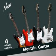 Taloha NEON Electric Guitar + Amp > 4 Colours