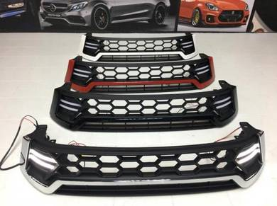Toyota Hilux Revo Front Grill w LED
