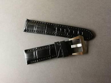 PANERAIPAM 22mm Black Genuine Leather Watch Strap