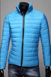 Simple Winter Warm Sweater Padded Jacket (L. Blue)