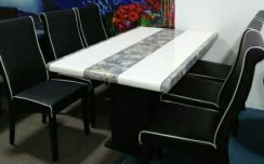 Dining set marble 1+6 #4093
