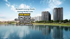 Setapak [Cheapest] Luxury Condo [Lake/KLCC View] 4 Bedrooms 2 Bathroom