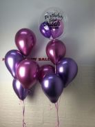 Personal balloon with crome colour