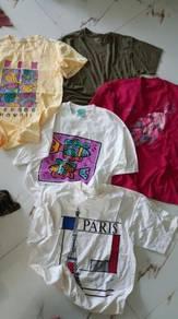 Combo tshirt vintage L tubub
