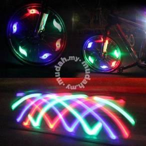 Bicycle Bike Wheel Rim LED Safety Light Lamp lampu