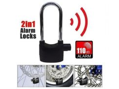 2in1 Waterproof Siren Alarm Padlock Alarm Lock ★