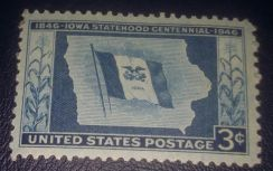 US Postage Iowa Statehood Centennial 1946 3c