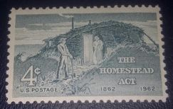 US Postage Homestead Act Centenary 1962 4c