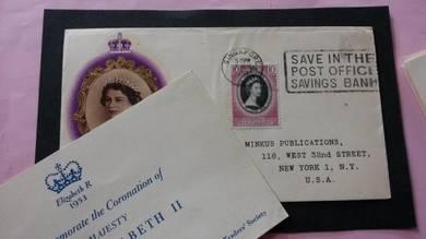 FDC Singapore Coronation 1953 No 1177