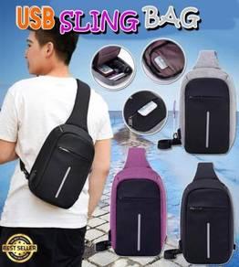 Sling bag with usb port v-5.33e