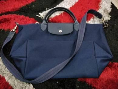 Longchamp Le Pliage Navy Blue Medium