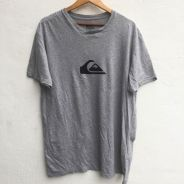 Size 2XL QUIKSILVER Tshirt in Grey Pit 22.5