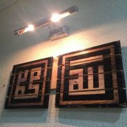 Khat Handmade Wall Decor Wood Signboard Hiasan