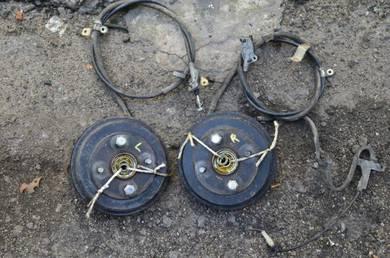 YRV rear drum for kelisa kenari l9 l7 brake besar