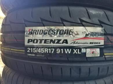 Bridgestone Potenza RE003 215 45 17 Tayar Baru