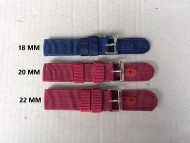 Nylon Stripe Strap Watch 18mm,20mm,22mm