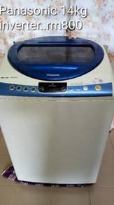Mesin basuh automatik panasonic inverter 14kg