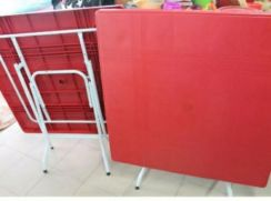 Red plastic table