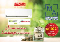 WangsaMaju Brand NEW Aircond offer