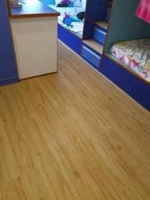Vinyl Floor Lantai Timber Laminate PVC Floor Q316