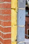 Combination insulation exterior cavity rockwool