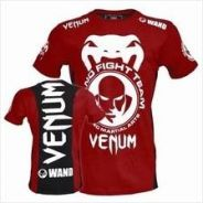UFC MMA Venum Wand Red (SLim Fit Elastic shirt)