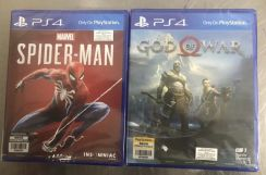 PS4 Games Spiderman God of War NEW AND SEALED