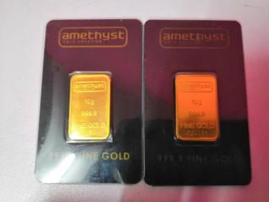10 gram Amethyst emas 999.9