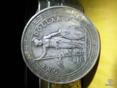 Siling Antik One Dollar Tahun 1911 Original