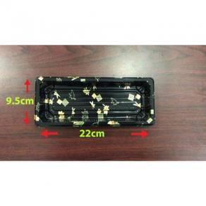 22x9.5x4.8cm Sushi box gold ± 50pcs/100pcs