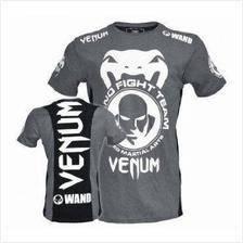 UFC MMA VENUM GREY WAND SHIRT (baju SLim Fit )