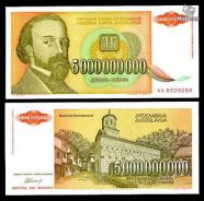 Yugoslavia 5,000,000,000 dinara 1993 p 135 unc