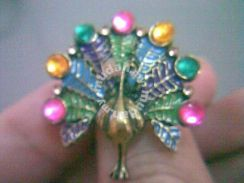 ABRB-P001 Elegant Bronze Colorful Peacock Ring AS