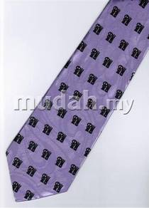 Chinese Calligraphy Fu Good Luck Purple Neck Tie