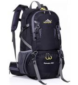 Gear Travel Hiking Bag Camping Backpack (Black)