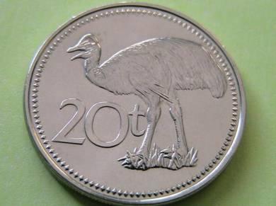 Papua New Guinea 20 Toea 2005 PROOF Coin