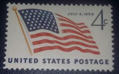 US Postage 49 Star Flag 1959