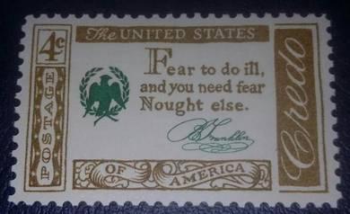 US Postage American Credo (B. Franklin) 1960 4c