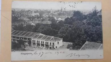 Antik Postcard Harbour View 1902 No 406 RARE