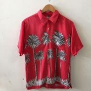 Blue Vacation Hawaii Red Shirt Men Shirt Casual M