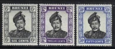 Brunei 1964-1972 definitives 3 m/m values bk470