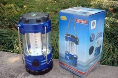 Portable camping light 12 led with compass fishing