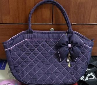Naraya Purple Denim Handbag
