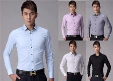 Korean style Slim Fit Cotton Men Shirts (1)