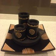 Balinese Wooden Candle Stand