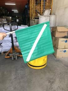 Reflective safety traffic control warning flag